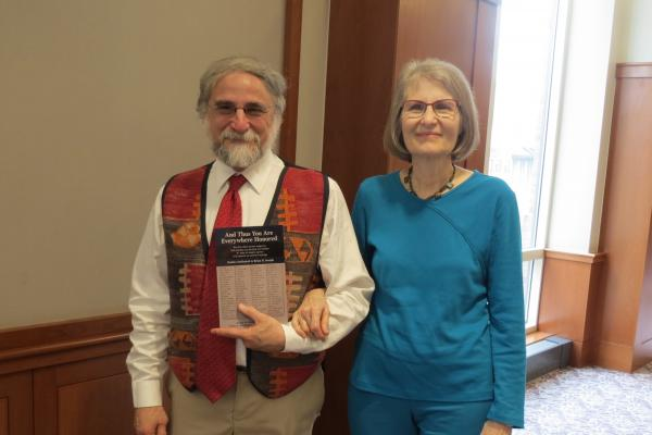 Brian Joseph with his wife Mary from his recent Festschrift