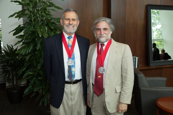 Distinguished University Professors Peter Culicover and Brian Joseph