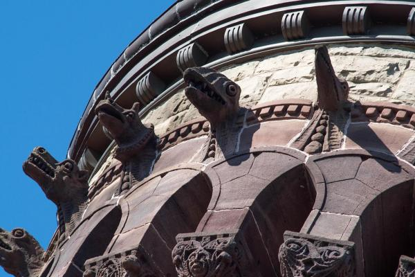 Detail of Orton Hall tower